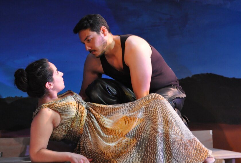 """Anne Rebek and Steven Lone in the Moxie Theatre production of """"References to Salvador Dali Make Me Hot."""""""
