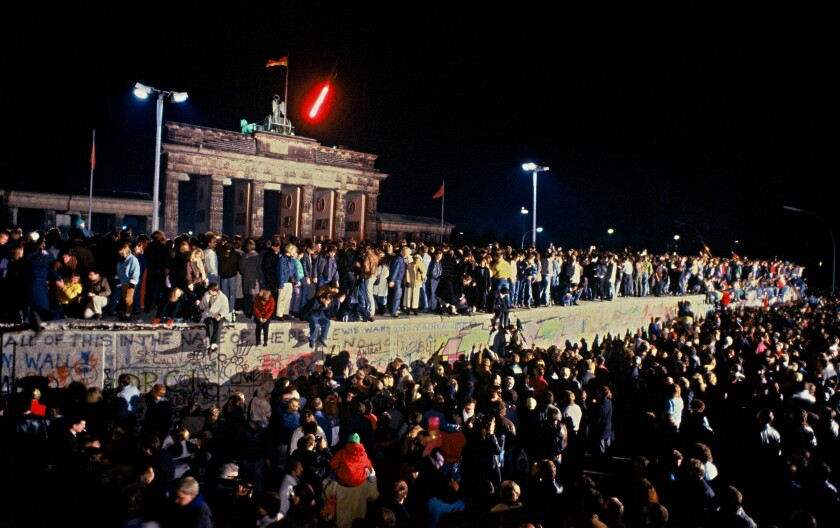 The Berlin Wall in front of Branderburg Gate