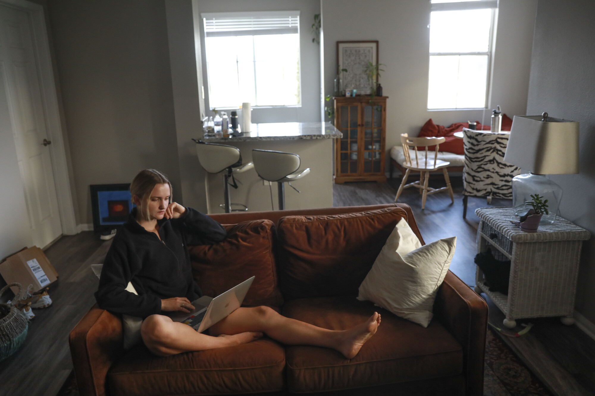 Athena Leisching, a junior at UC San Diego, is struggling to find affordable off-campus housing.