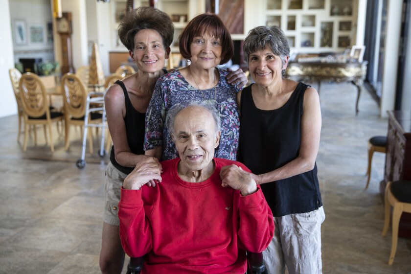 Robert and Sandra Borns, center, with daughters, Betsy Borns, left, and Stephanie Borns-Weil