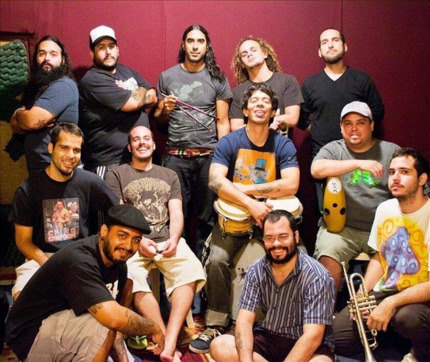 La orquesta puertorriqueña de salsa El Macabeo. EFE/Cortesía