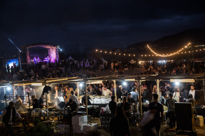 Outdoor food booths, local wine tastings, celebrity chefs and live music are among the attractions at the Valle Food & Festival, which returns for the third year to Mexico's Valle de Guadalupe on Oct. 5.