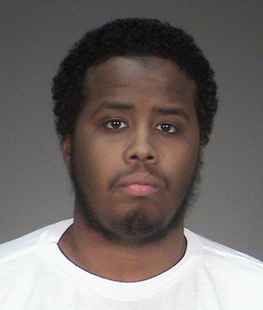 FILE - This undated file photo provided by the Washington County Sheriff's Office in Stillwater, Minn., shows Mohamed Abdihamid Farah, one of several Minnesota men facing trial for allegedly plotting to join the Islamic State group. Closing arguments are scheduled to begin Tuesday, May 31, 2016, in
