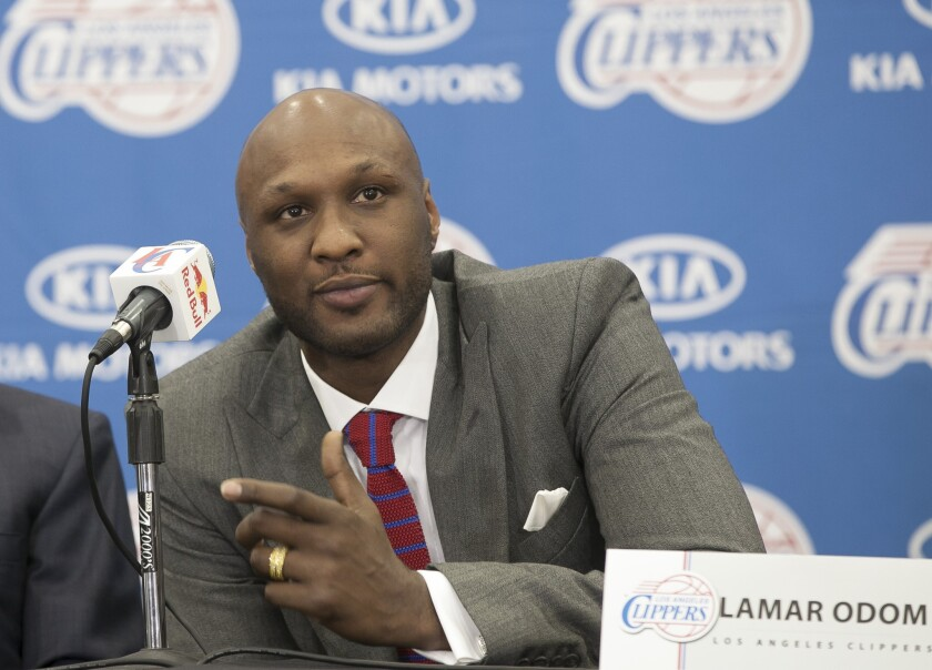 Former NBA forward Lamar Odom was released from a Las Vegas area hospital Monday after he was found unconscious at at Nevada brothel last week.