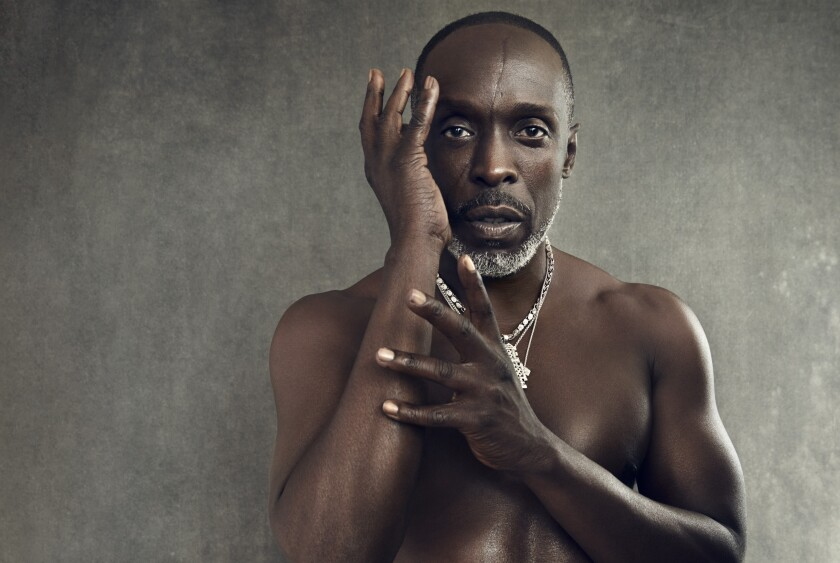 Actor Michael K. Williams, posed shirtless and photographed on Aug. 16 this year.