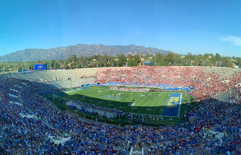 A view of the Rose Bowl during UCLA's game against Oklahoma on Sept. 14, 2019.