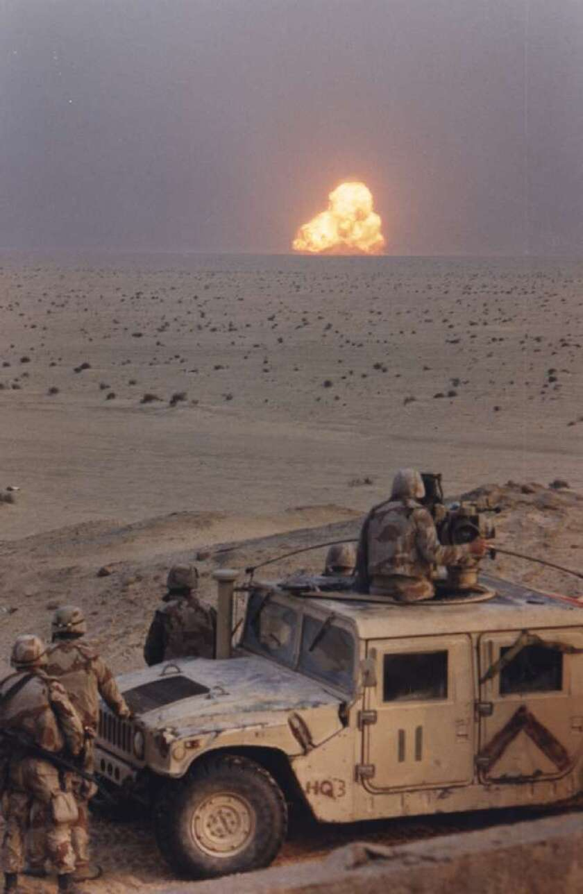 The 1st Marine Division blows up a truck in Iraq during Operation Desert Storm. A new report addresses Gulf War illness, the mysterious condition that affects up to one-third of those who served there.
