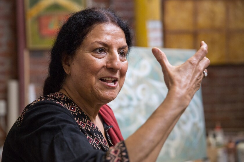 Salma Arastu is one of many artists using Islamic calligraphy in nontraditional ways -- not to everyone's approval.