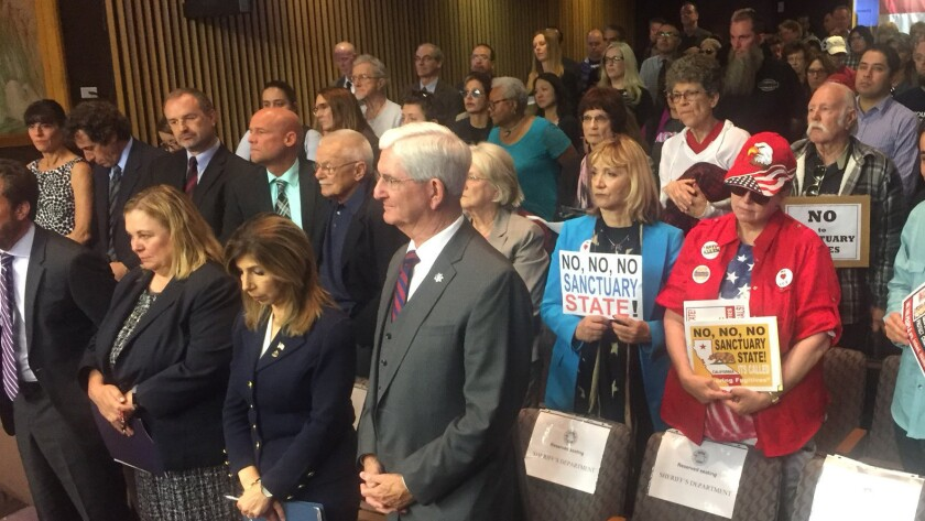 San Diego County Board of Supervisors meeting begins. Voting today on Trump vs CA, Sanctuary Lawsuit