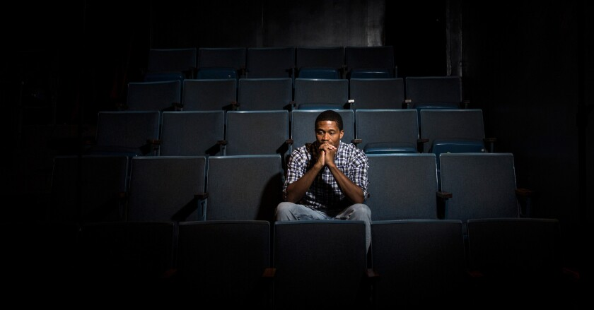 Actor Darryl Green is photographed at the Playhouse West theater in North Hollywood.