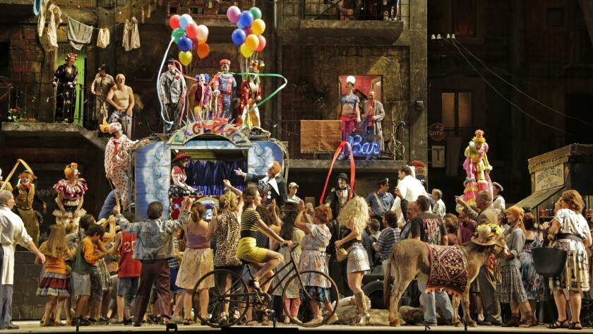 "The Los Angeles Opera staged ""Pagliacci"" at the Dorothy Chandler Pavilion in September."