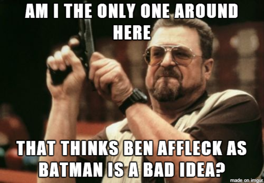 Let the Ben Affleck-as-Batman memes begin: #Batfleck anyone?