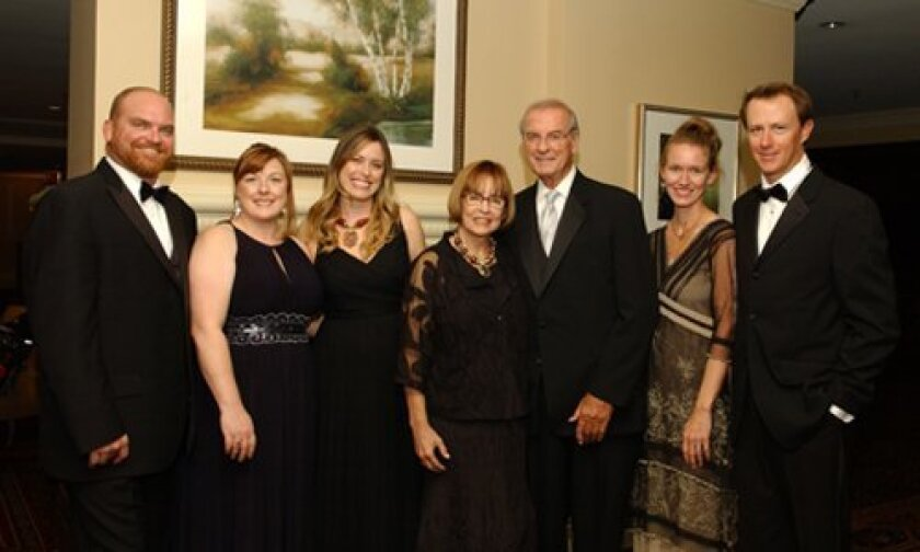 Dr. Brent Eastman (third from right) with his wife, Dr. Sarita Eastman, and their family. Photo/ Chuck Giorno
