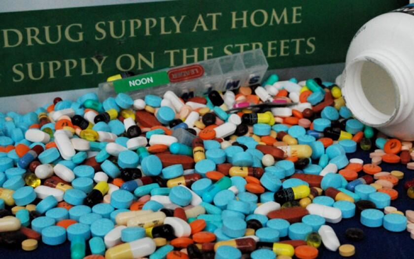 Una serie de píldoras de prescripción