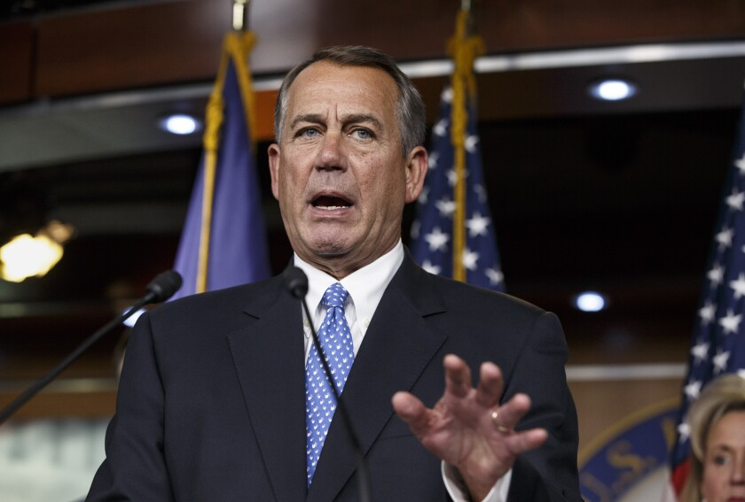 """We're going to fight the president tooth and nail if he continues down this path,"" House Speaker John Boehner (R-Ohio) said of President Obama's potential executive actions on immigration. ""This is the wrong way to govern."""