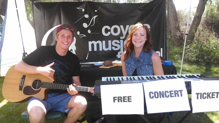 Curt Owen and Hillary Laughery will both perform at this Saturday's Coyote Music Festival at Cuyamaca College.