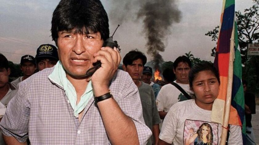 A mediados de los 90, cuando muchos pensaban que su destino sería la cárcel o el cementerio, Evo Morales ya vaticinaba que iba a ser presidente.