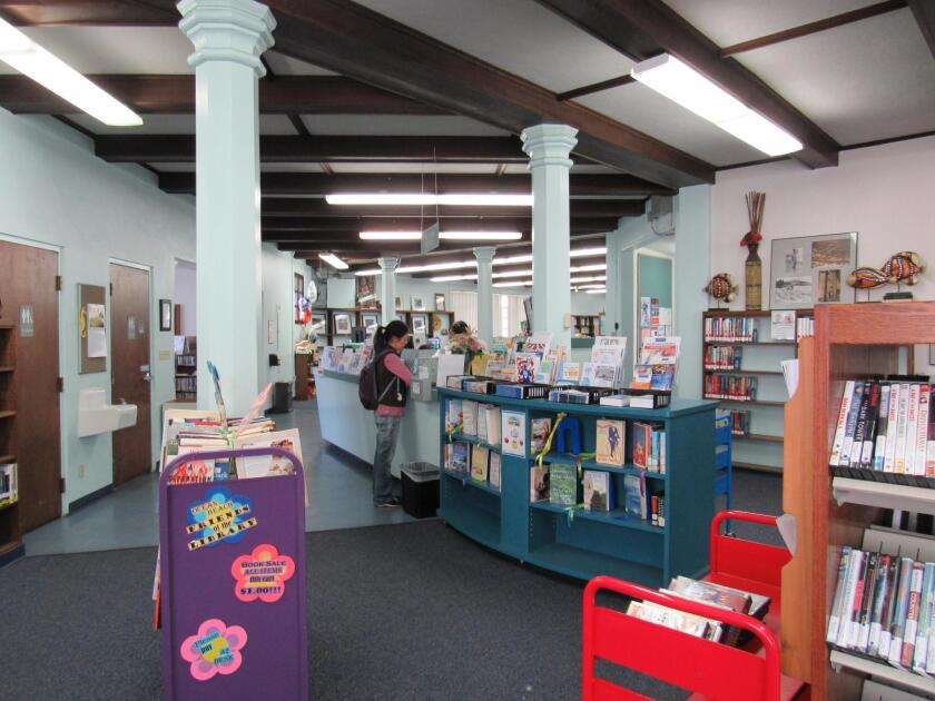 The Ocean Beach Library is open 9:30 a.m. to 6 p.m. Monday, Thursday, Friday and Saturday; 11:30 a.m. to 8 p.m. Tuesday and Wednesday; and closed Sunday.