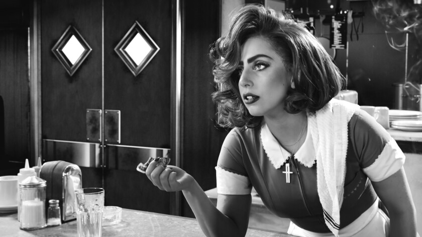 "Lady Gaga in ""Sin City: A Dame to Kill For."""
