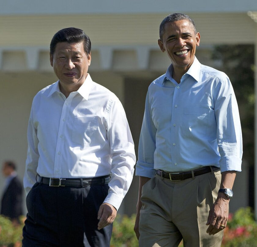 President Barack Obama with Chinese President Xi Jinping