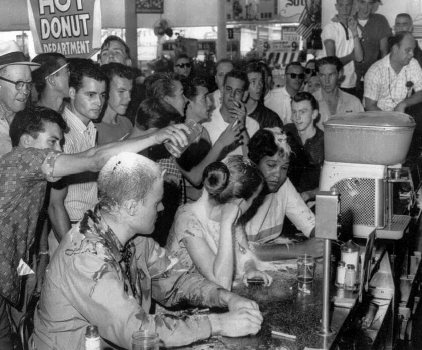 Image result for photograph of greensboro sit ins""