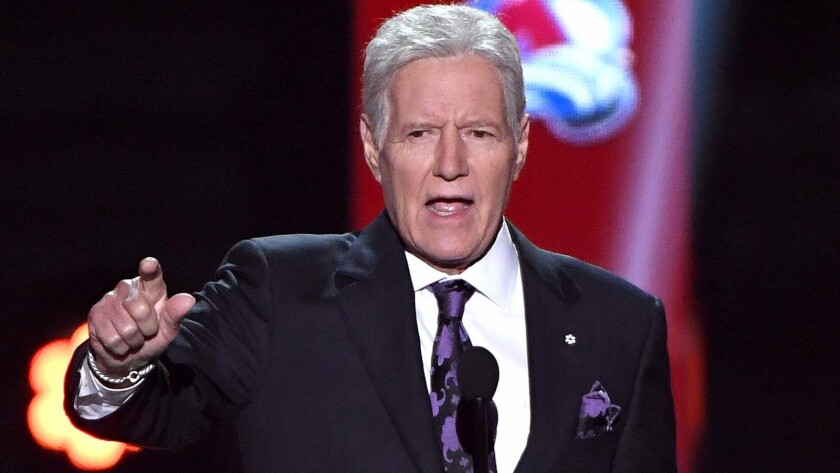 Alex Trebek got a standing ovation at the 2019 NHL Awards on Wednesday night in Las Vegas.