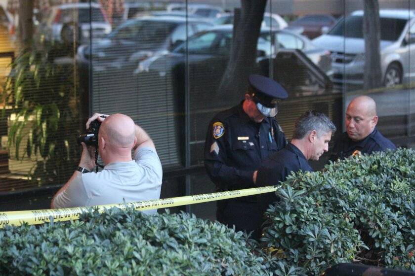 San Diego police arrived at Regents Bank on Prospect Street (at Fay Avenu shortly after a white male wearing a ski mask robbed the bank of an undisclosed amount of cash.