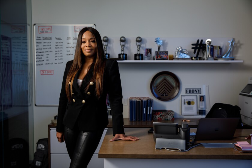 Connie Orlando, head of programming at BET, is photographed at the network's Los Angeles office on June 18, 2019.