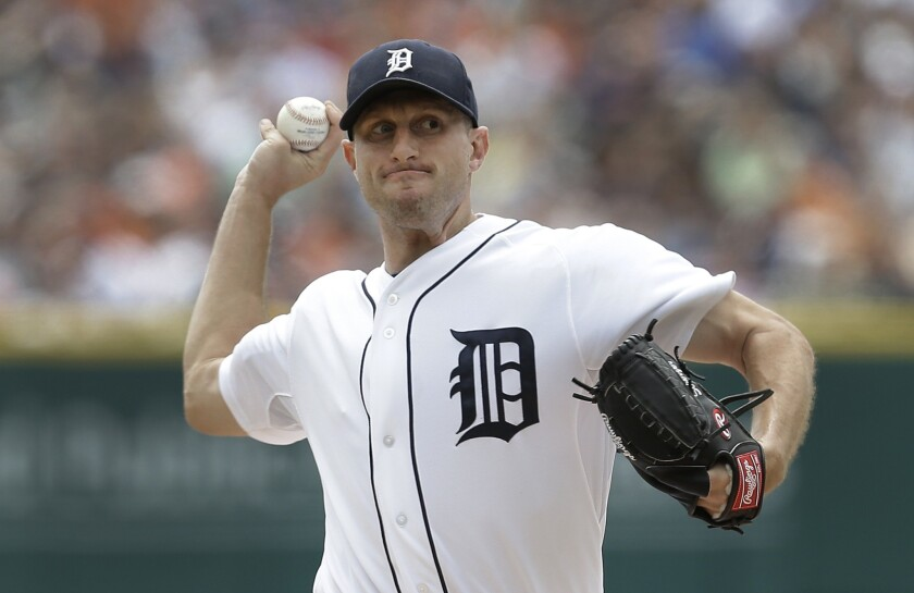 Detroit's Max Scherzer faces the Dodgers on July 9. He held the Dodgers to one run on four hits over seven innings while collecting his 11th win of the season. Scherzer had seven strikeouts while issuing only one walk.
