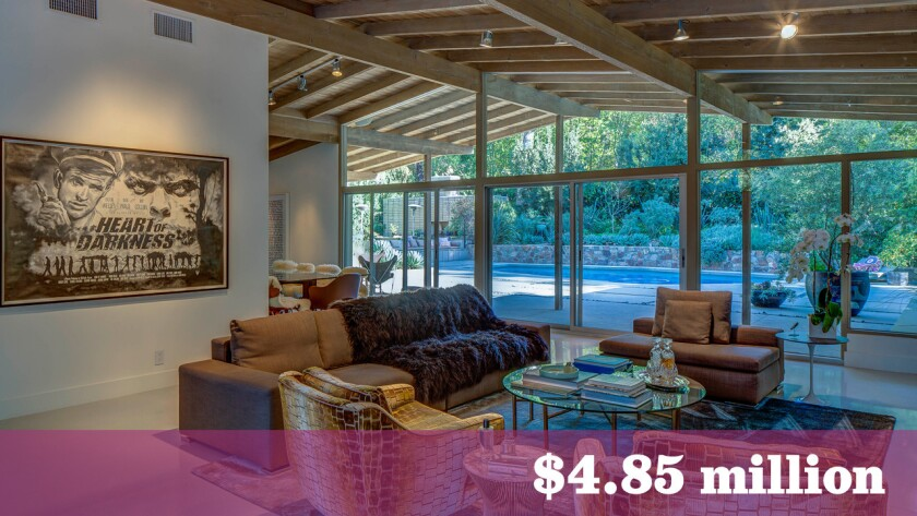 Film producers Lynn Harris and Matti Leshem have put their Studio City home, which was once photographed by Julius Shulman, up for sale at $4.85 million.