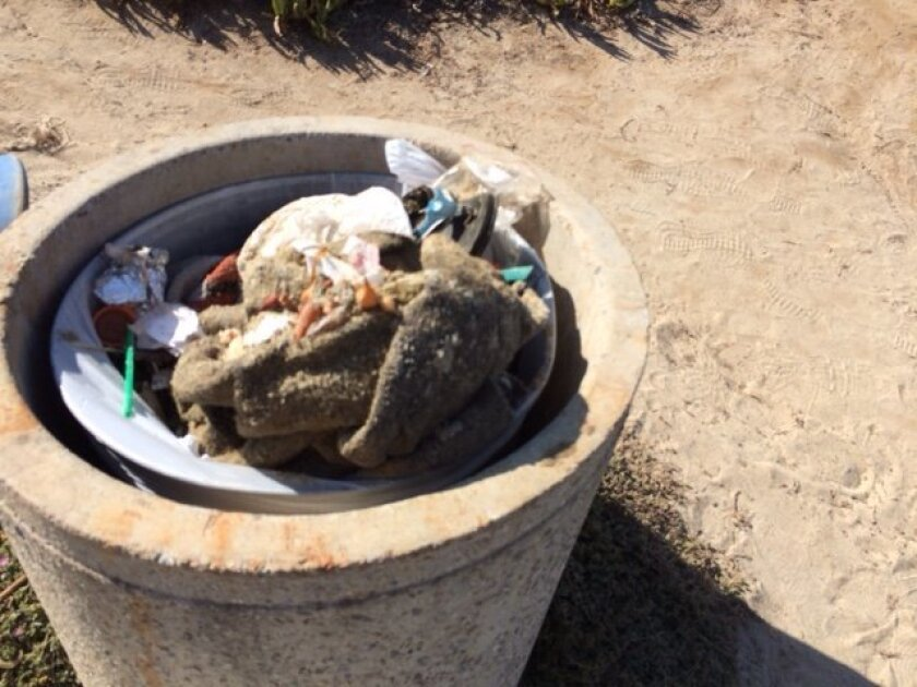 A load of trash from Cuvier Beach