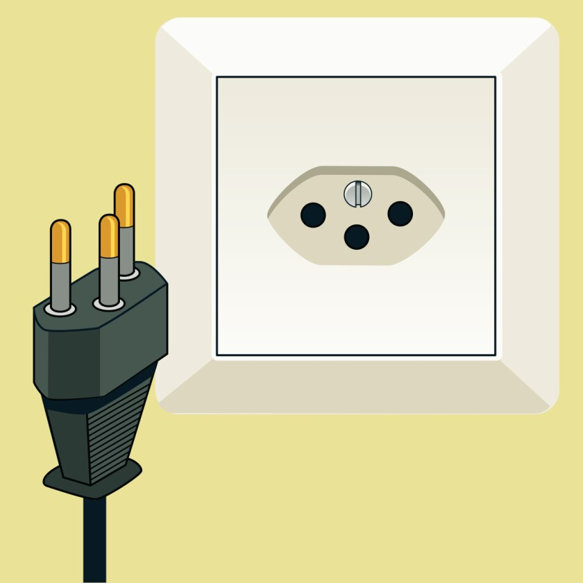 Type J plug and socket
