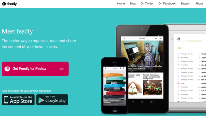 Feedly, an RSS service, has made large gains in new users as a result of Google shutting down its Reader service.