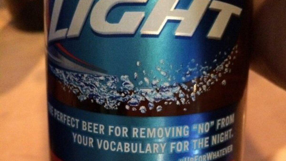 Bud Light sorry, drops