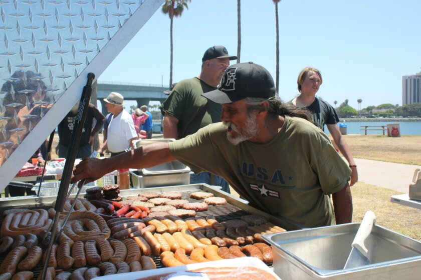 'Art' cooks from the barbecue-trailer and is a regular volunteer for So Others May Eat (SOME).