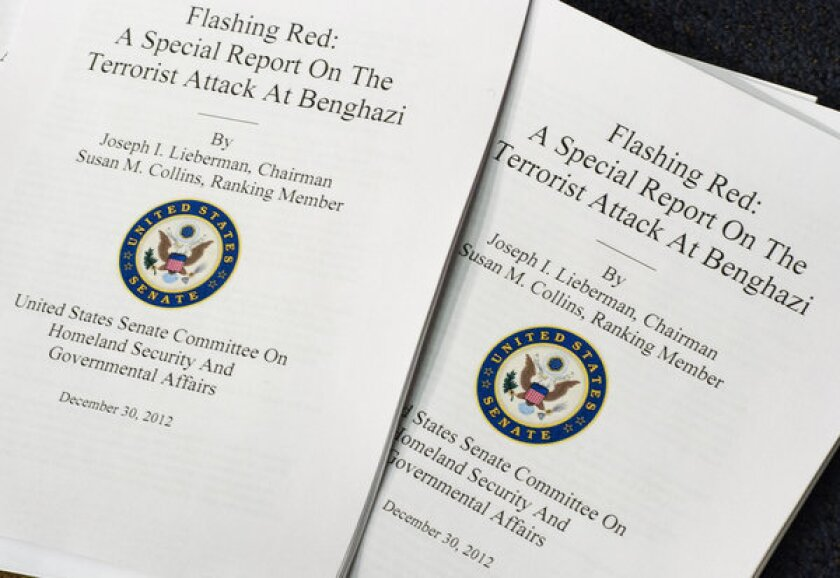 Report faults State Department, intelligence for Benghazi failures
