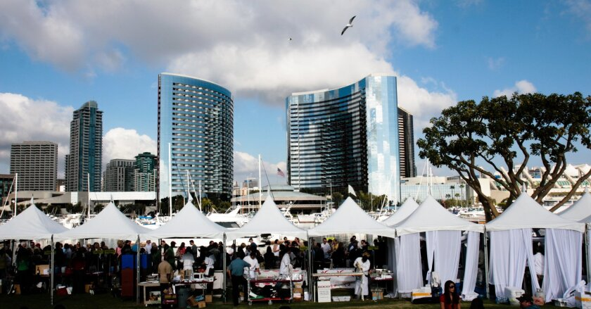 The annual San Diego Bay Wine and Food Festival is one of several events that get financing help via a 2 percent hotel room surcharge paid by visitors.
