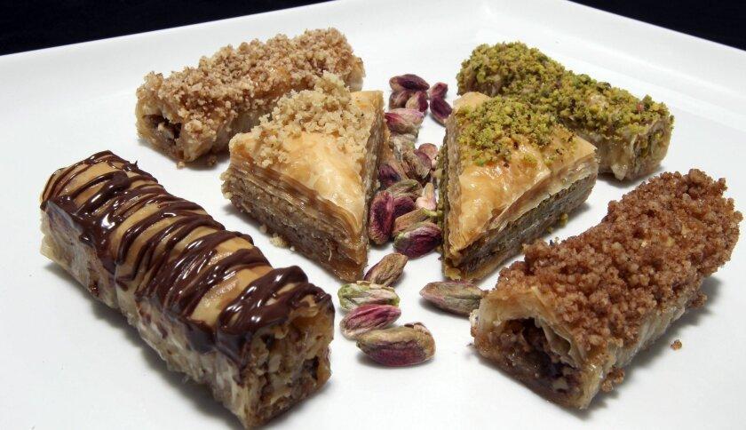A variety of the baklava sold at Santee's Baklava King bakery.