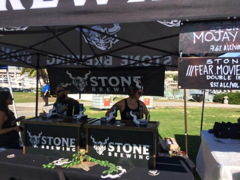 Stone Brewing offered tastings of its popular brews. Held Nov. 3 at downtown San Diego's Embarcadero Marina Park South, Guild Fest was the official kick-off event for San Diego Beer Week 2018.
