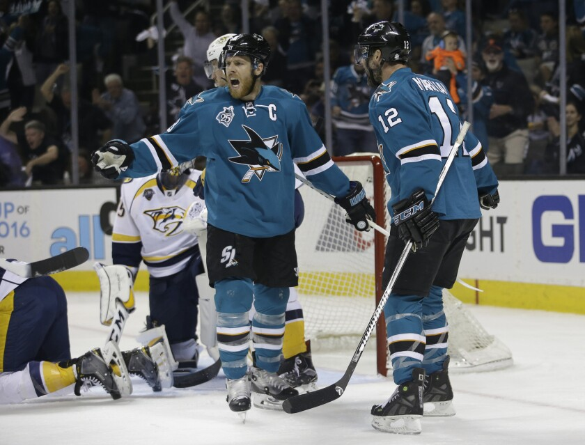 Sharks dominate Game 7 to advance to conference finals
