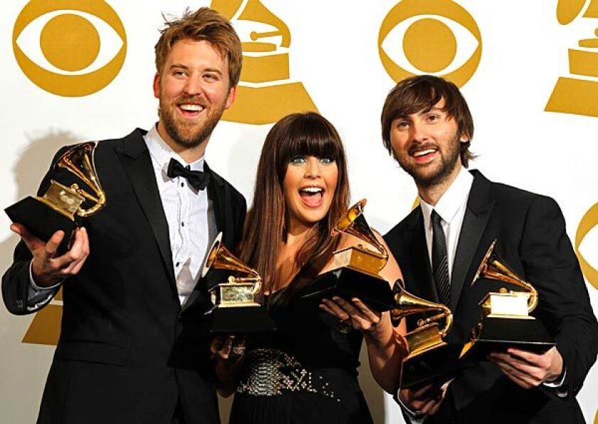 Lady Antebellum won record of the year and best country album, among other awards.