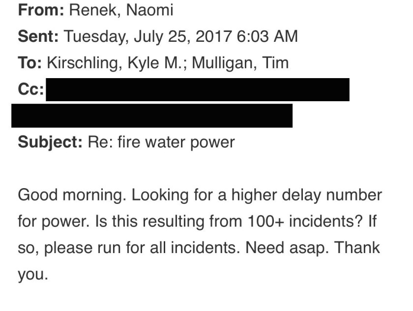 NYC Transit chief of staff Naomi Renek emailed staff early July 25.
