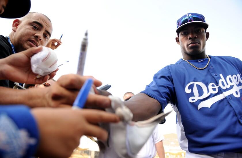 Yasiel Puig's merchandise is a hot seller in Dodgers team store