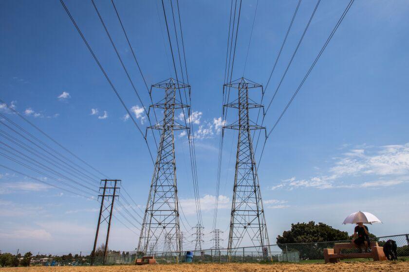 Power lines near Redondo Beach