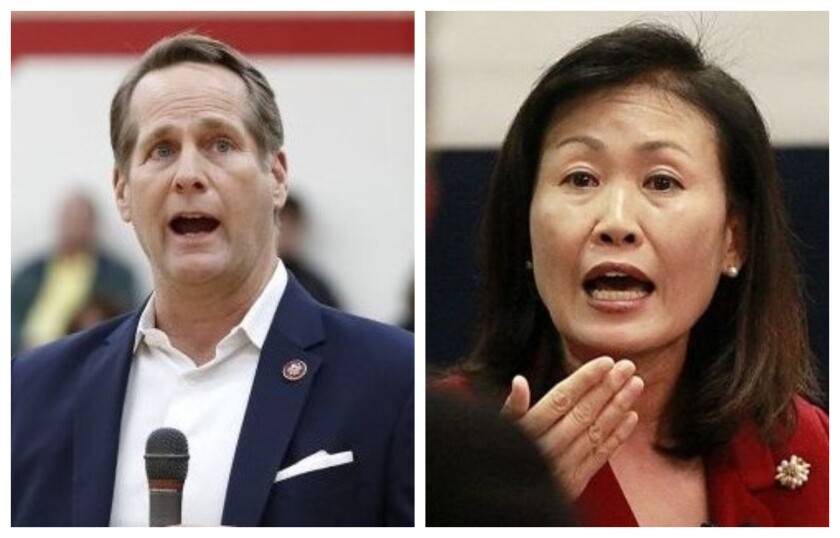 The 48th Congressional District is contested by incumbent Rep. Harley Rouda and Orange County Supervisor Michelle Steel.