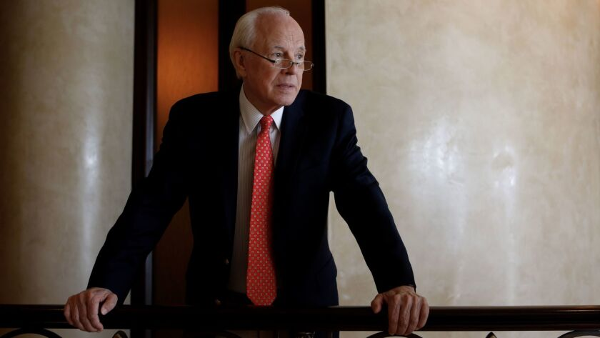 BEVERLY HILLS, CA MAY 30, 2017: Portrait of John Dean, the Nixon White House counsel and Watergat