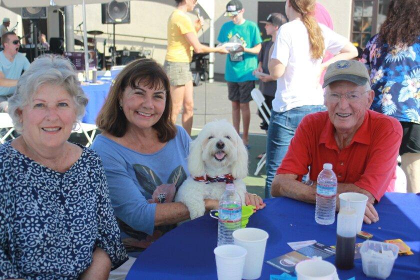 Ruth Matrange, Loretta and Marshall Foreman with Pilot