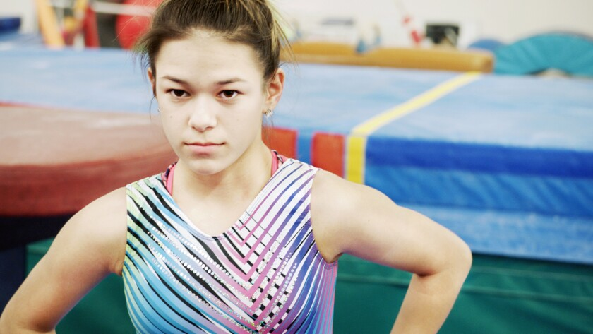 """Chelsea Zerfas in a scene from """"At the Heart of Gold: Inside the USA Gymnastics Scandal."""""""