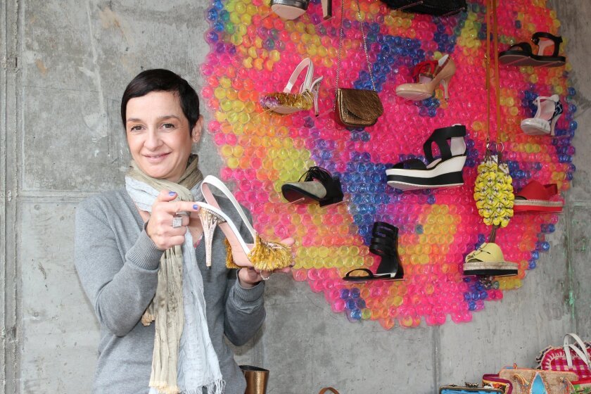 Jalila Lissilaa opened La Scarpa (Italian for 'The Shoe') boutique on the third floor of the new La Plaza La Jolla shopping complex at Wall Street and Girard Avenue.