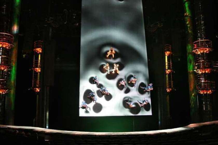 """Battle scene from the Cirque du Soleil performance of """"Ka"""" at the MGM Grand in Las Vegas"""